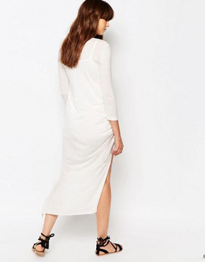 photo Cosmos Knot Front Dress by d.RA, color Ivory - Image 2