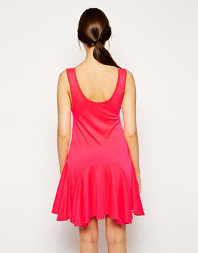 photo Hayley Skater Dress by d.RA, color Neon Pink - Image 2