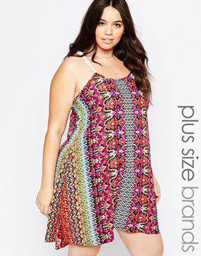 photo Dress with Crochet Straps by Diya Plus, color Multi Print - Image 1