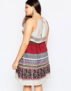 photo Halter Neck Dress with Bead Detail by Diya Plus, color Multi - Image 2