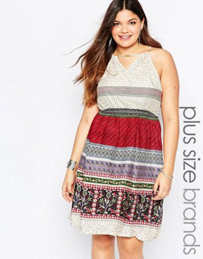 photo Halter Neck Dress with Bead Detail by Diya Plus, color Multi - Image 1
