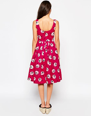photo Emily & Fin Isobel Dress In Ballerina Print, color Pink - Image 2
