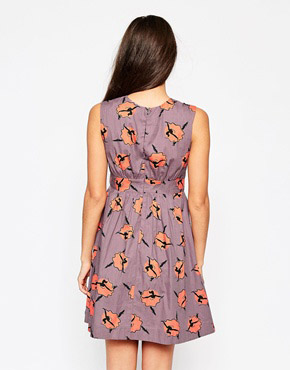 photo Emily & Fin Lucy Dress In Ballerina Print, color Beige - Image 2
