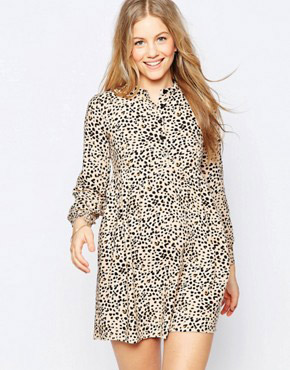 photo First Snow Dress by Family Affairs, color Leopard - Image 1