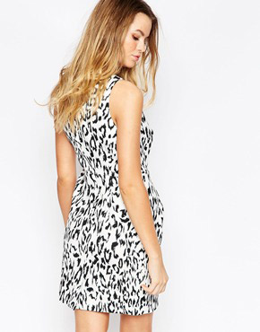 photo The Creator Dress in Leopard Print by Finders Keepers, color Light Leopard - Image 2
