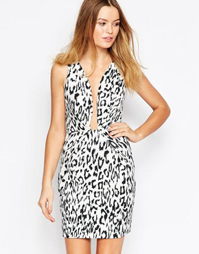 photo The Creator Dress in Leopard Print by Finders Keepers, color Light Leopard - Image 1