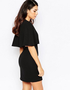 photo Natural History Plunge Front Dress by Finders Keepers, color Black - Image 2