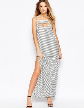 photo Underground Kings Striped Maxi Dress by Finders Keepers, color Stripe - Image 1