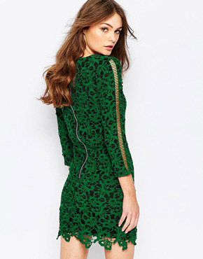 photo The Gambler Lace Dress by Goldie, color Green - Image 2