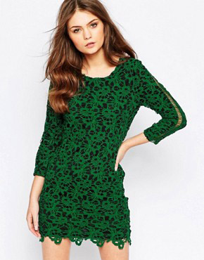 photo The Gambler Lace Dress by Goldie, color Green - Image 1