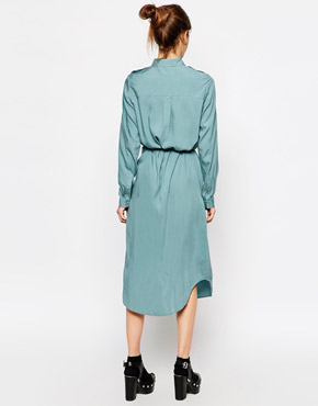 photo Sursee Shirt Dress by Gsus Sindustries, color Smoke Blue - Image 2