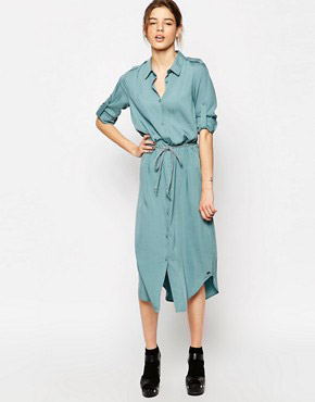 photo Sursee Shirt Dress by Gsus Sindustries, color Smoke Blue - Image 1