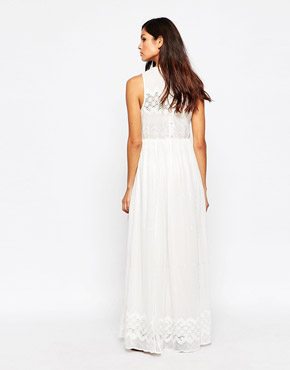 photo Eyelet Maxi Dress by Harlyn, color White - Image 2