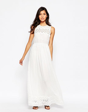 photo Eyelet Maxi Dress by Harlyn, color White - Image 1
