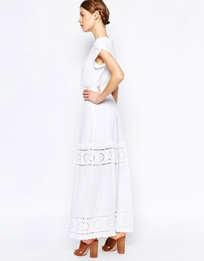 photo Tiered Maxi Dress by Harlyn, color Ivory - Image 2