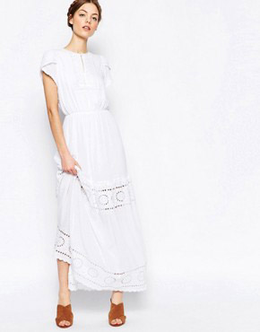 photo Tiered Maxi Dress by Harlyn, color Ivory - Image 1