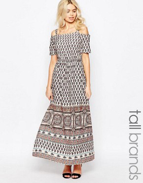 photo Bardot Maxi Dress by Influence Tall, color Multi - Image 1