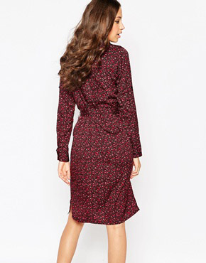 photo Ditsy Print Shirt Dress with Belt by Influence Tall, color Ditsy Print - Image 2