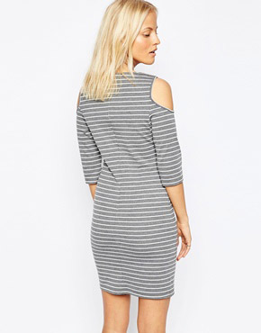 photo Upstaged Dress In Grey by Isla, color Grey White - Image 2