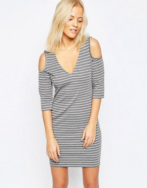 photo Upstaged Dress In Grey by Isla, color Grey White - Image 1