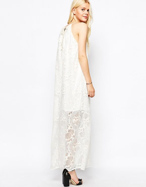 photo High Neck Lace Dress by JAPONICA, color Cream - Image 2