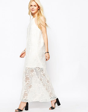 photo High Neck Lace Dress by JAPONICA, color Cream - Image 1