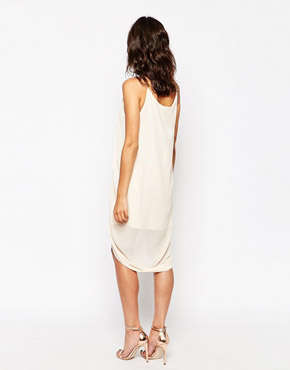 photo Anja Drape Dress with Chain Straps by Jovonna, color Cream - Image 2