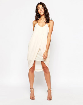 photo Anja Drape Dress with Chain Straps by Jovonna, color Cream - Image 1