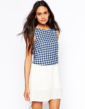 photo Dress with Gingham Overlay by Jovonna, color Gingham - Image 1