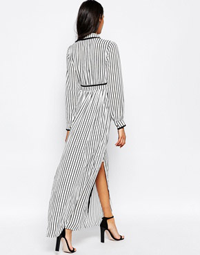 photo Gino Maxi Shirt Dress In Stripe by Jovonna, color Stripes - Image 2