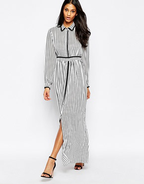 photo Gino Maxi Shirt Dress In Stripe by Jovonna, color Stripes - Image 1