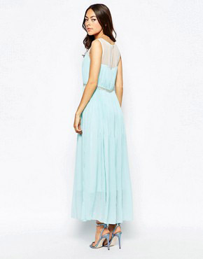 photo Jovonna Premier Butter Wouldn't Melt Maxi Dress with Embellishment, color Mint - Image 2