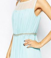 photo Jovonna Premier Butter Wouldn't Melt Maxi Dress with Embellishment, color Mint - Image 3