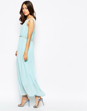 photo Jovonna Premier Butter Wouldn't Melt Maxi Dress with Embellishment, color Mint - Image 4