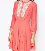photo Go with The Flow Dress with Crochet Detail by Jovonna Premier, color Watermelon - Image 3