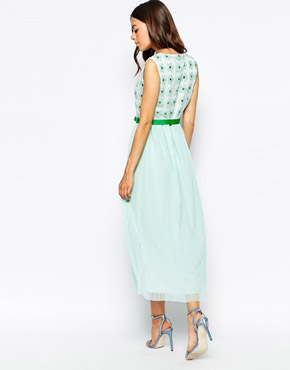 photo Good Times Maxi Dress with Embellished Daisy Top by Jovonna Premier, color Mint - Image 2