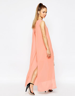 photo What For Dress with Chiffon Overlay by Jovonna, color Pink - Image 2