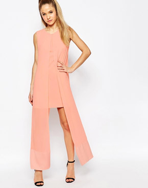 photo What For Dress with Chiffon Overlay by Jovonna, color Pink - Image 1