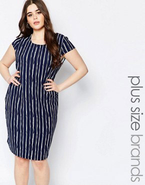 photo Shift Dress In Stripe Print by Koko Plus, color Print - Image 1
