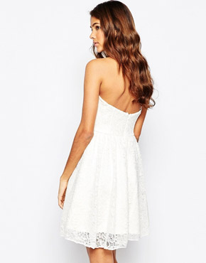 photo Strapless Lace Dress by Laced In Love, color White - Image 2