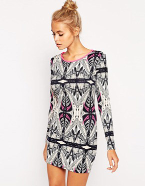photo Dress In Print by Lashes of London, color Multi - Image 1