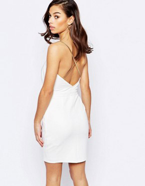 photo Cami Dress with Chain Straps by Lipstick Boutique Petite, color White - Image 2