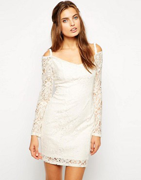 photo Maggie Off Shoulder Lace Dress by Lydia Bright, color Cream - Image 1