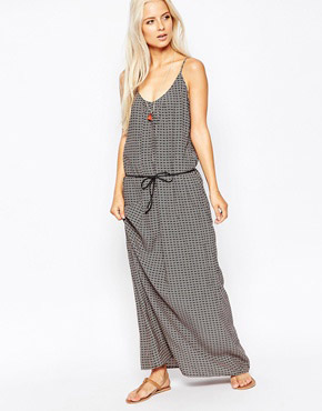 photo Maxi Dress in Safari Print by Maison Scotch, color Multi - Image 1