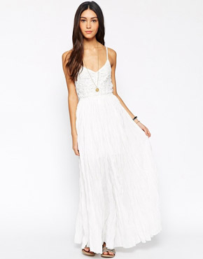 photo Wendy Moira Maxi Dress by Meghan Fabulous, color Ivory - Image 1