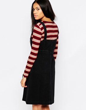 photo Eastman Button Front Dress by MiH Jeans, color Black - Image 2