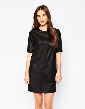 photo Montesson Leather Dress by Muubaa, color Black - Image 1