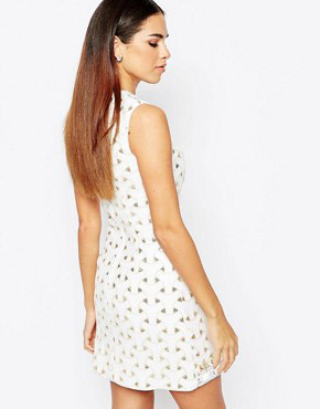 photo Shift dress with Sequin and Jewel Embellishment by Rare Opulence, color White - Image 2