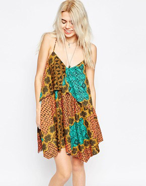 photo Waterfall Cami Dress by RVCA, color Marmalde - Image 1
