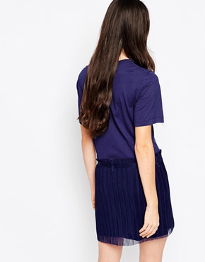 photo Dress with Finely Pleated Skirt by See by Chloe, color Navy - Image 2